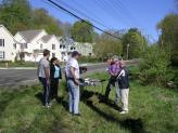 Volunteers arriving to blaze the Norwalk Valley River Trail