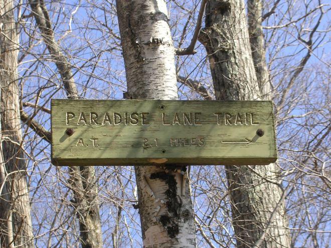 Paradise Lane Trailhead, CT AT