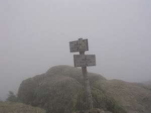 Socked in on South Twin, NH AT