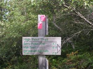 Trail sign, Sam's Point Preserve, Gunks, NY