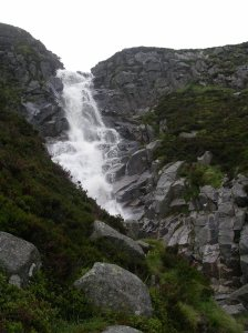 Falls of Glasallt above Loch Muick, trail to Lochnagar