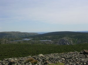Lakes Perre and Bouliane from Mont Xalibu, Parc national de la Gaspesie, Quebec