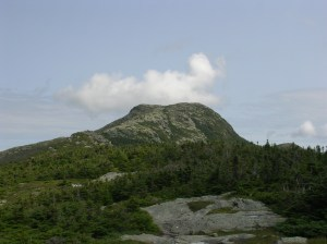 "The ""Chin"" and Summit of Mt Mansfield, VT."