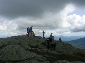 "On the ""chin"" of Mt Mansfield, highest point in Vermont."