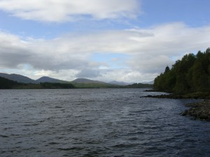 Day 18 - Loch Garry towards hills of Knoydart, a few miles from Tomdoun.