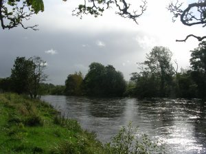 Day 34 - Sunshine and coming squall, the River Clyde in South Lanarkshire near Crossford.