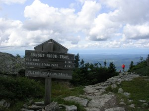 Top of Sunset Ridge Trail, Mt Mansfield, Vermont