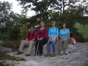 AMC Hiking Group at a Devil's Den Vista