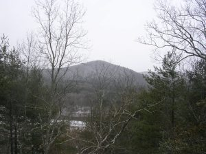The CT Appalachian Trail near Falls Village in late March