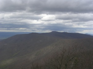 Looking north from Hawksbill Summit