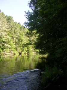 The Shepaug River in Steep Rock Preserve
