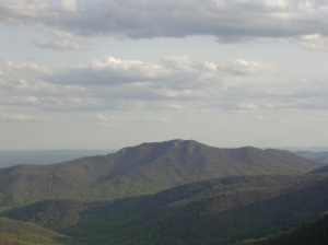 Old Rag Mountain seen from Skyline Drive