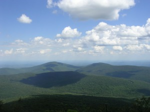 Unknown Catskill peaks seen from Peekamoose Mountain