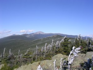 Mt Washington from Mt Webster, decorated with rime, mid-October 2007.