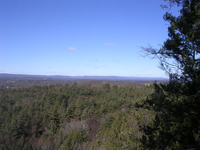 Looking NW – into MA – from Suffield Mountain.