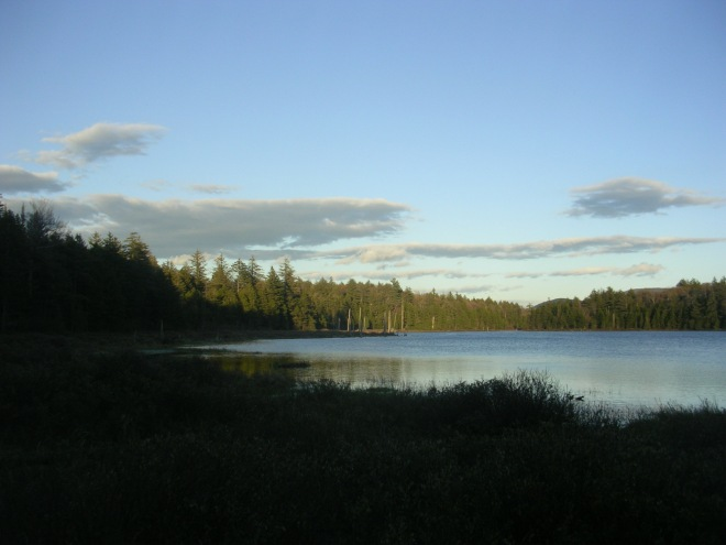 Mud Lake, Silver Lake Wilderness, soon before sunset