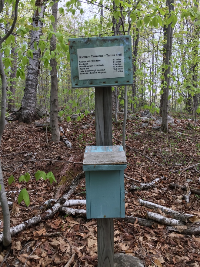 "The Tunxis Trail ""northern terminus"" is a remote, tranquil spot"