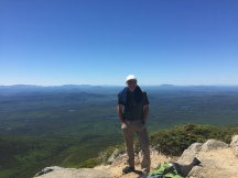 You know who with Maine behind (southwest). The prominent lumps off my left shoulder are Big and Little Spencer mountains nearly 30 miles away