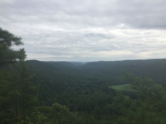Looking down the Housatonic River valley from Lookout Point
