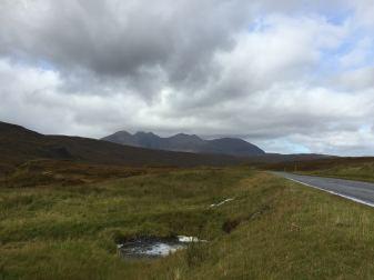 Driving toward An Teallach, Wester Ross, Scotland