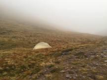 SATURDAY MORNING: My campsite beneath Bidein a' Ghlas Thuill
