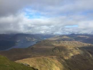 Looking north from Ben Lomond's summit