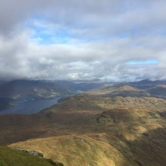 Looking north from Ben Lomond's summit