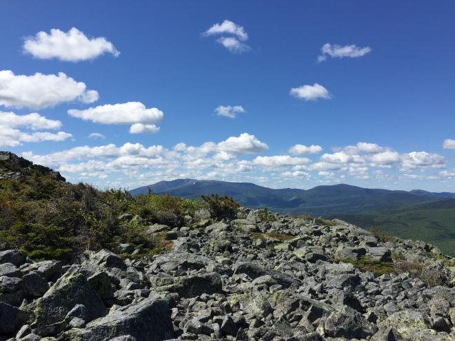 Katahdin from the climb to Center Ridge
