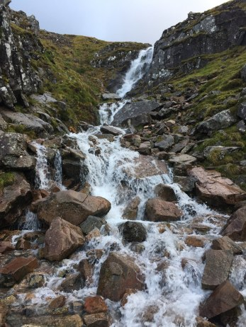 Trackside waterfall