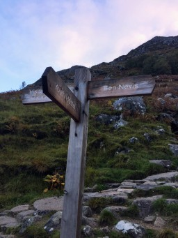 the route up ben nevis (scotland's highest peak) is an immaculate trail