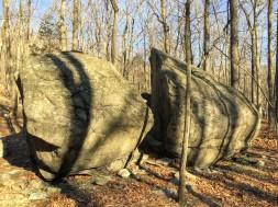 Split rock, Lone Star Trail