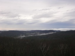 Dawn Monday, looking west from Mohawk Mountain