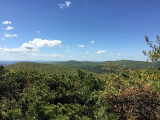 From Everett: Mount Race (in MA) and, beyond, CT Taconic summits