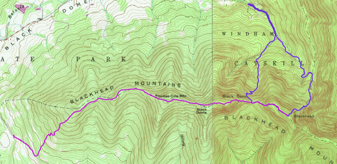Blackhead Range Routes