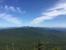 Looking N from Belvedere Mtn, Jay Peak center on the horizon, Quebec beyond