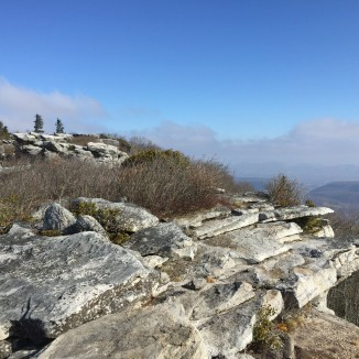 Bear Rocks with West Virginia below and beyond