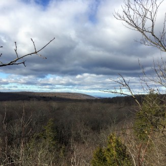 Land and sky from trailside ledge