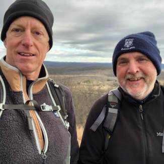 With David on Shenandoah Mountain (1,282 feet)