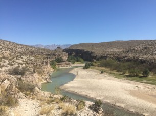 River—the Rio Grande in Hot Springs Canyon (Mexico on the right bank)