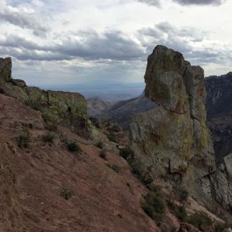A pinnacle hides Juniper Canyon
