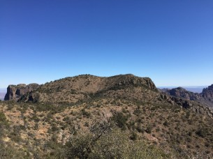 Chisos view from Emory Peak Trail