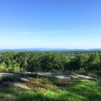 View NW from Mohawk Mountain. The Taconic Mountains, where CT, MA, and NY meet, can be seen in the distance, center
